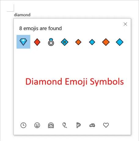 Алмазные символы эмодзи
