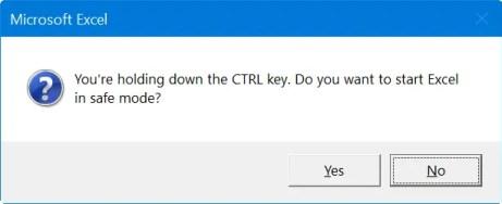 Откройте безопасный режим Excel