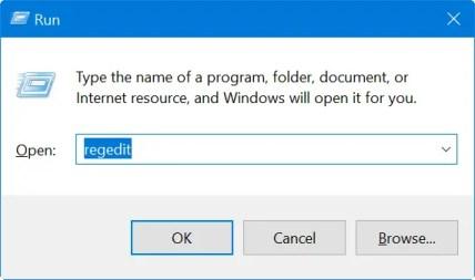 Откройте редактор реестра из командной строки