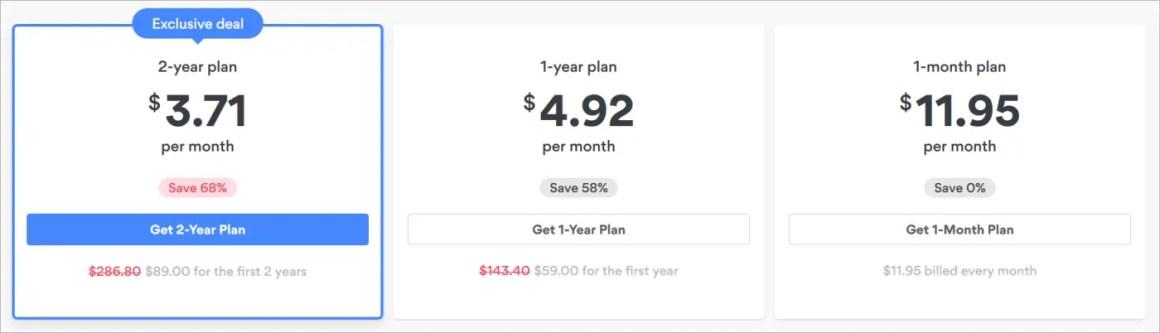 Ценовые планы