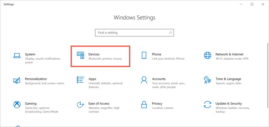 Приложение настроек Windows