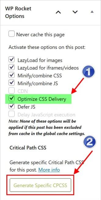 Создать критический CSS для определенной страницы