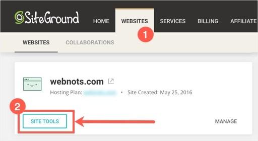 Перейти к интерфейсу инструментов сайта