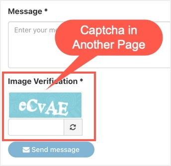 Captcha на другой странице