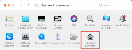 Настройки безопасности и конфиденциальности Mac
