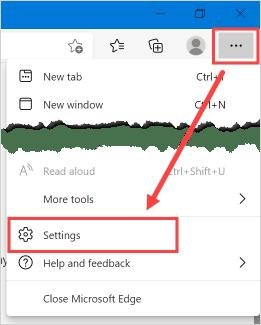 Страница настроек Microsoft Edge
