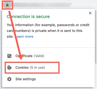 Просмотр файлов cookie в Chrome