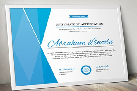 20  Free and Premium PSD Certificate Templates   Webprecis Simple Multipurpose Certificate