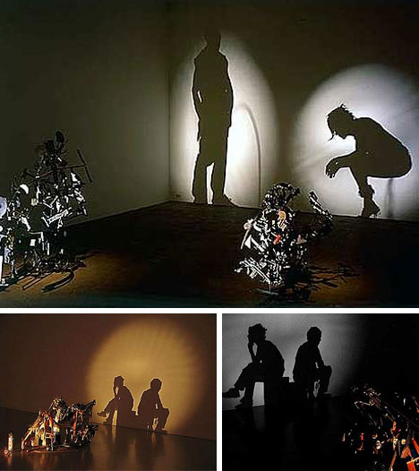 Projected Trash Art