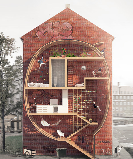narrow interstitial house concept