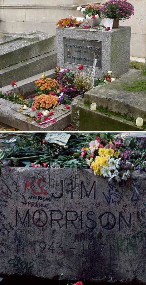 Jim Morrison's grave Paris
