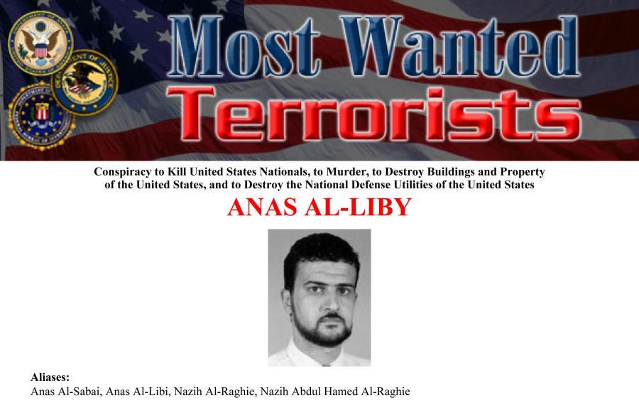 Auf der Webseite des FBI zeigt ein Steckbrief den Terroristen Abu Anas al-Libi