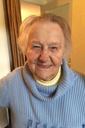 Die frühere KZ-Wärterin Hilde Michnia am vergangenen Donnerstag