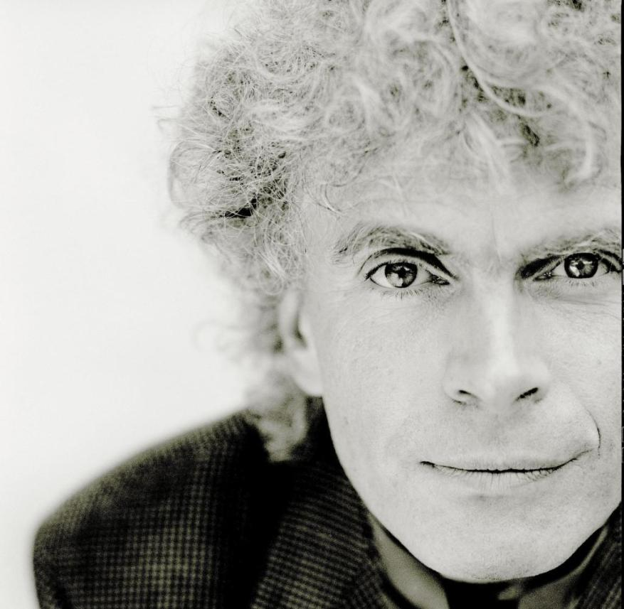 He won't be free again until Easter in 2019: Sir Simon Rattle, chief conductor of the Berliner Philharmoniker