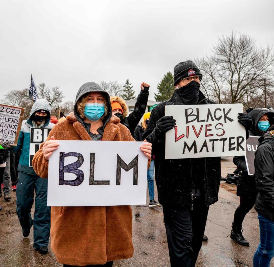 Protestierende in Columbus, Ohio