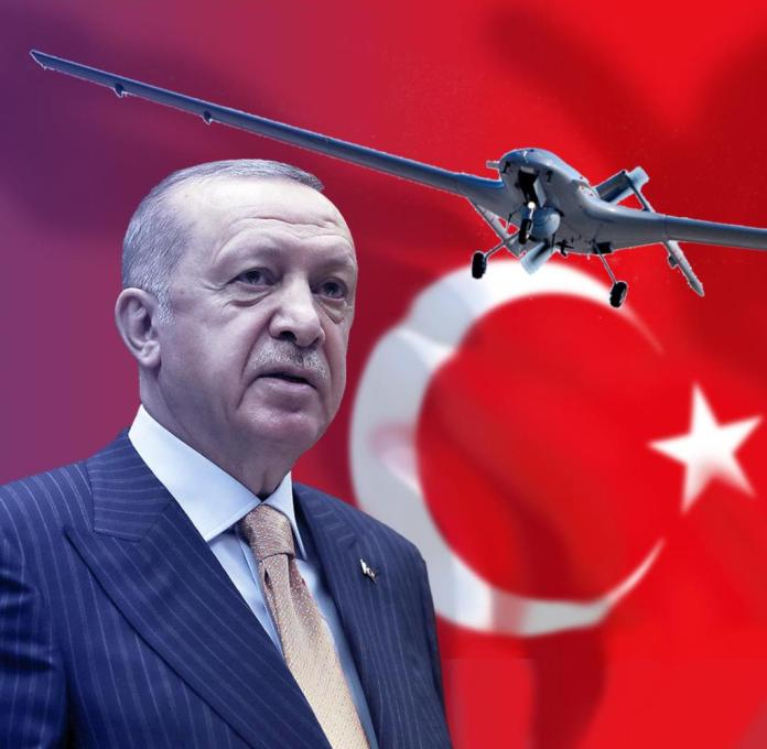 Turkish President Recep Tayyip Erdogan bases his expansionist foreign policy on the use of drones