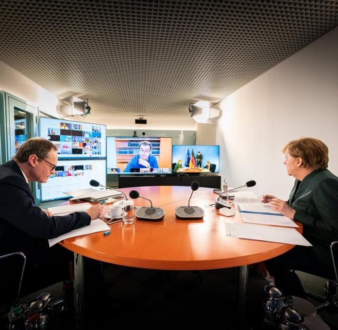 Merkel Meets With States Leaders Over New Measures To Bring Down Infections