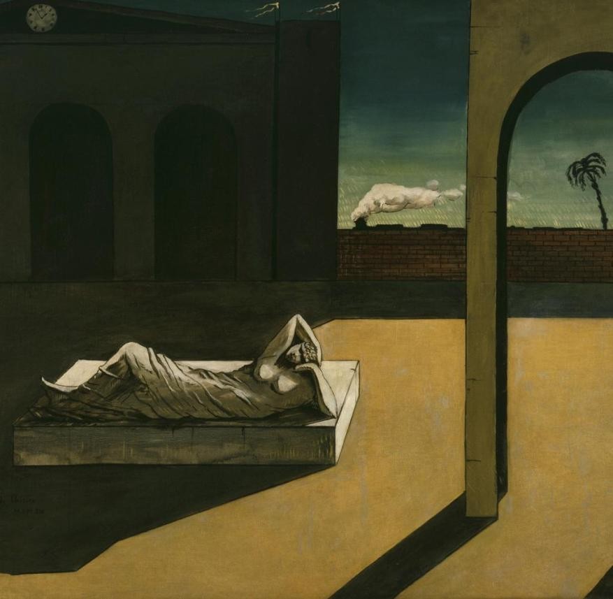 """The picture """"The wages of the fortune teller"""" by Georgio de Chirico"""