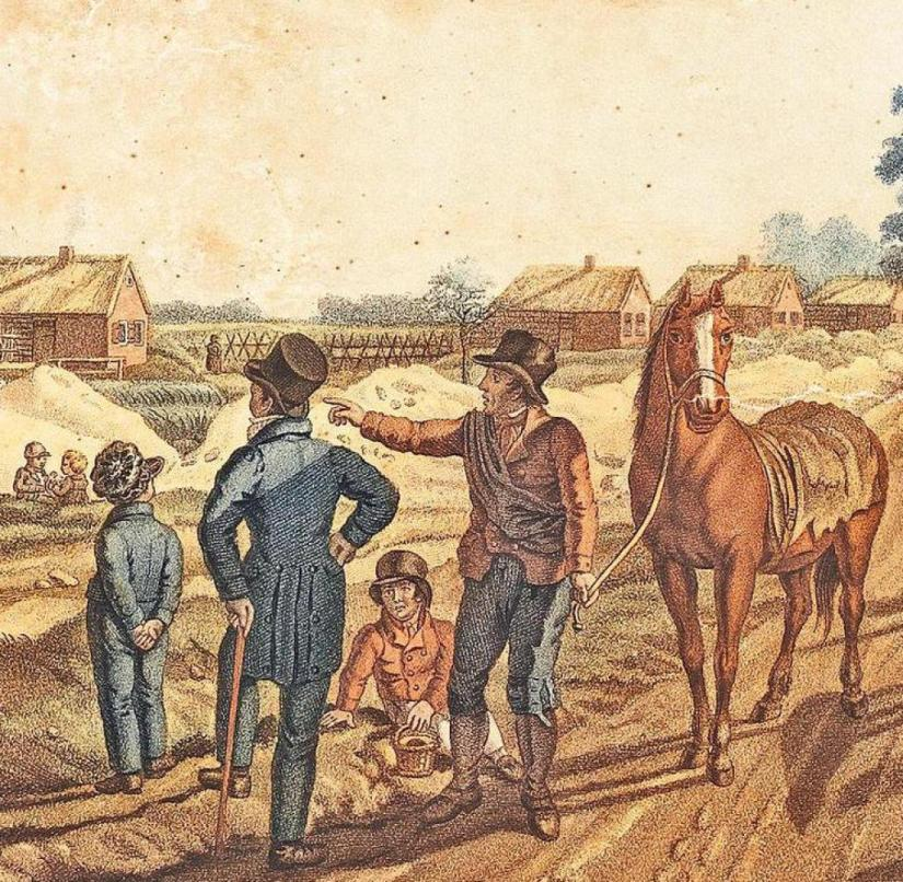 Drenthe (Netherlands): The illustration shows the former colony Frederiksoord