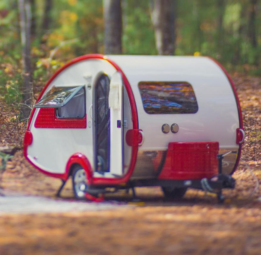 Camping: Teardrop caravans offer a surprising amount of space in a small space