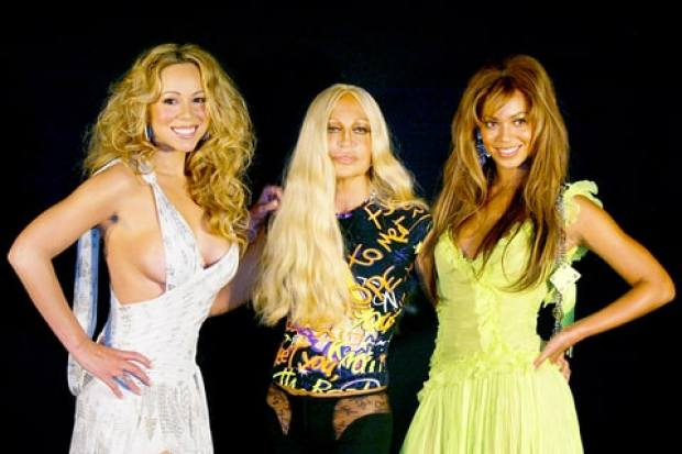 Mariah Carey, Beyonce and Donatella Versace