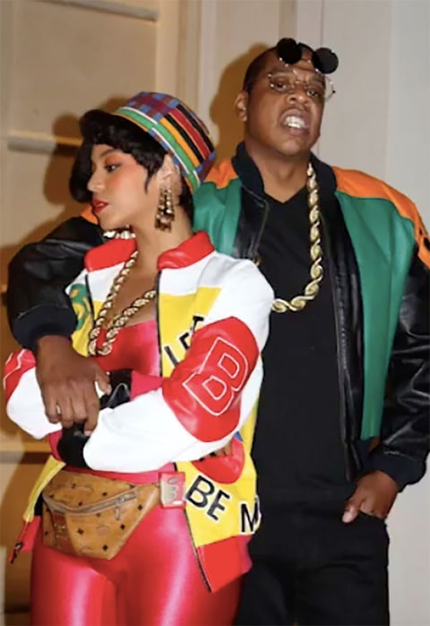 Beyonce and Jay-Z pose in their 80's inspired costumes for Halloween 2016