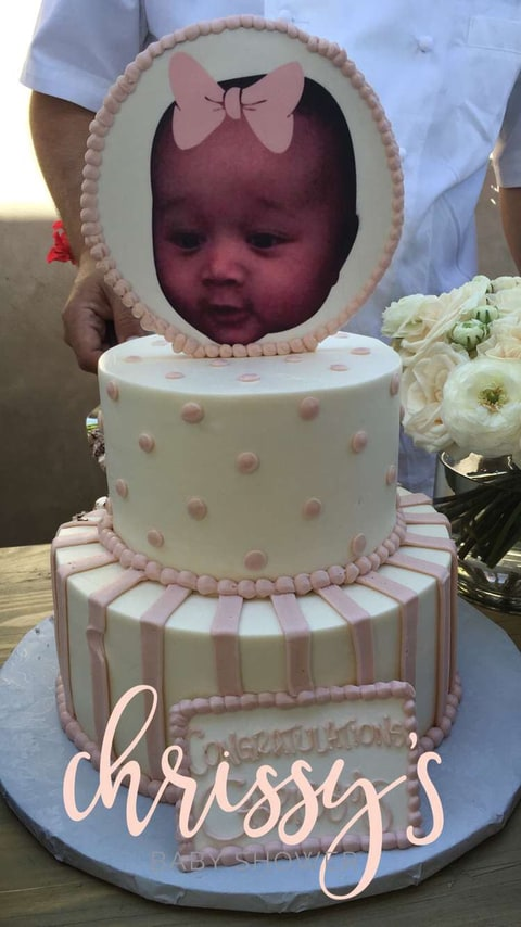 Chrissy's baby shower cake