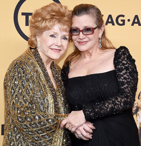 Image result for debbie reynolds and carrie fisher