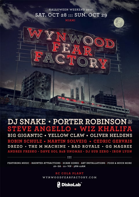 Wynwood Fear Factory Lineup