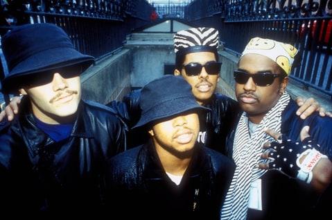 DJ Fuze, Money-B, Shock G and Chopmaster J of Digital Underground