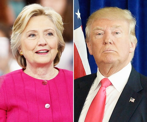 Image result for hillary and donald