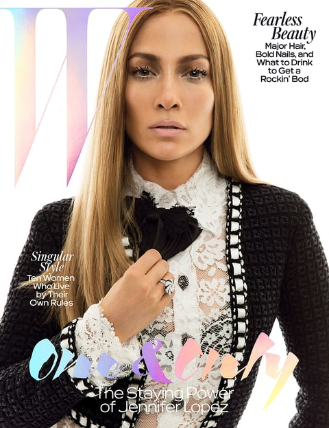 Jennifer Lopez on the cover of W Magazine