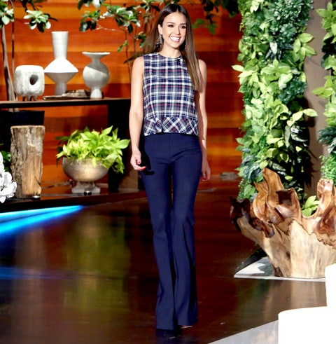 Jessica Alba on The Ellen DeGeneres Show Courtesy of Michael Rozman/Warner Bros.