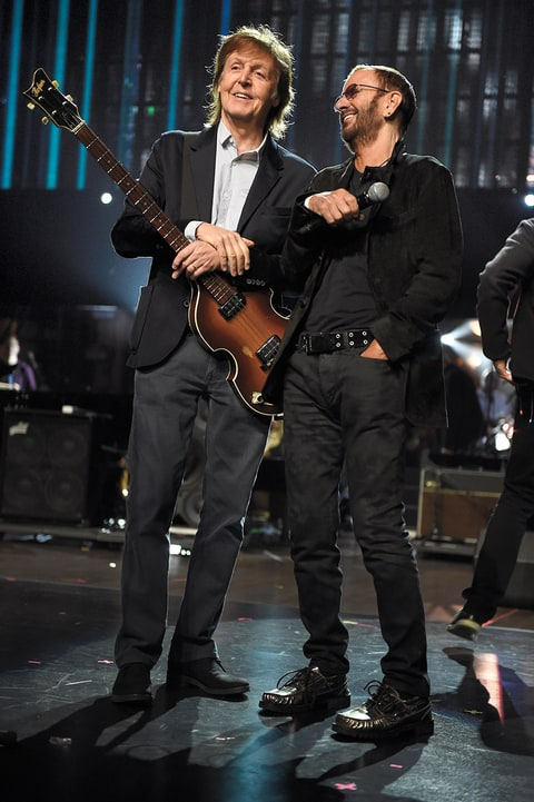 Paul McCartney with Ringo Starr Rock and Roll Hall of Fame