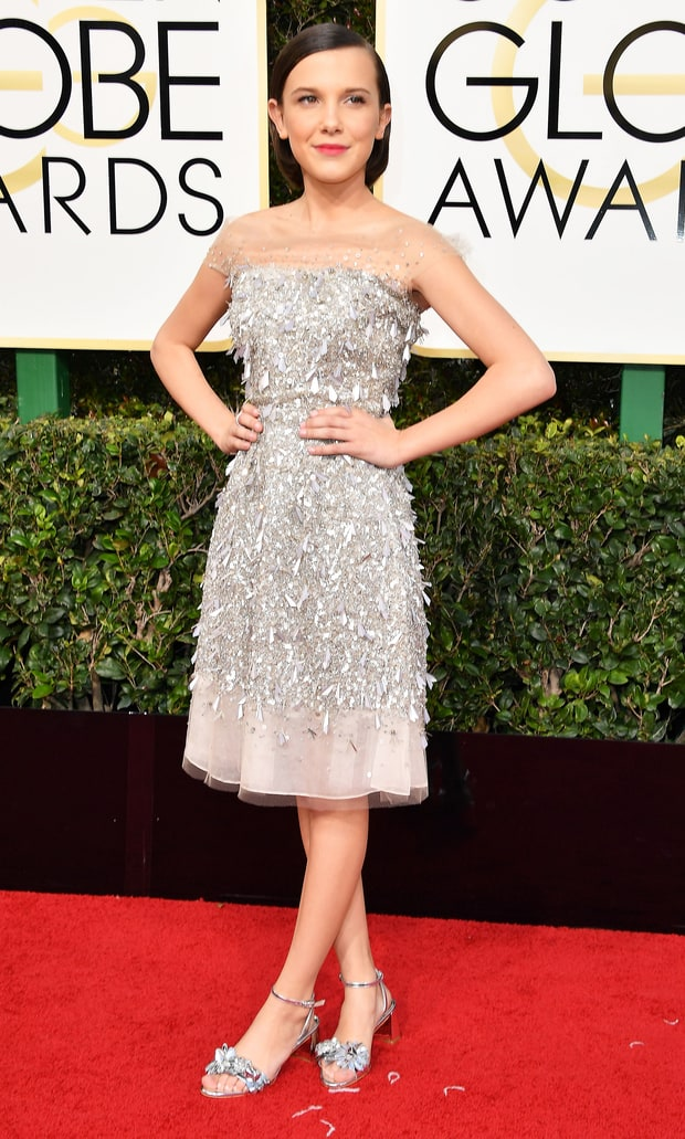 Image result for millie bobby brown dress golden globes