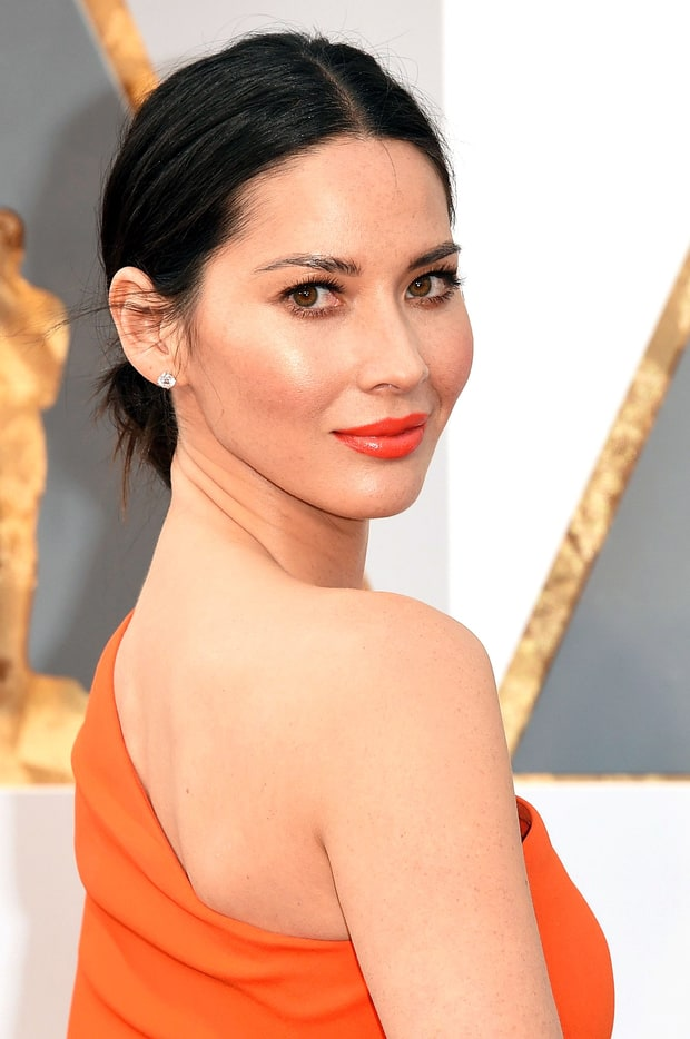 Olivia Munn's Orange-Red Lips