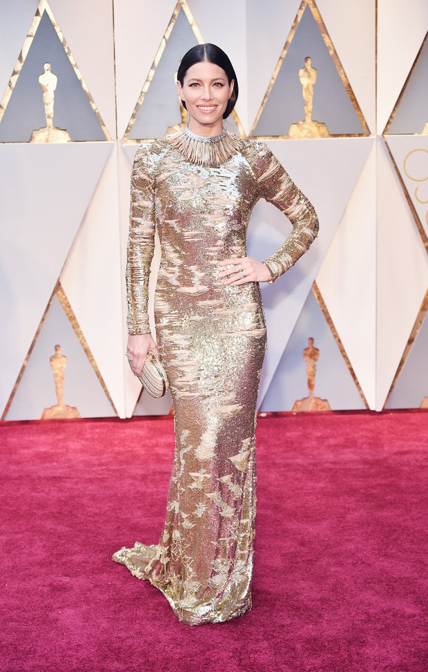 Image result for oscars fashion 2017 Jessica
