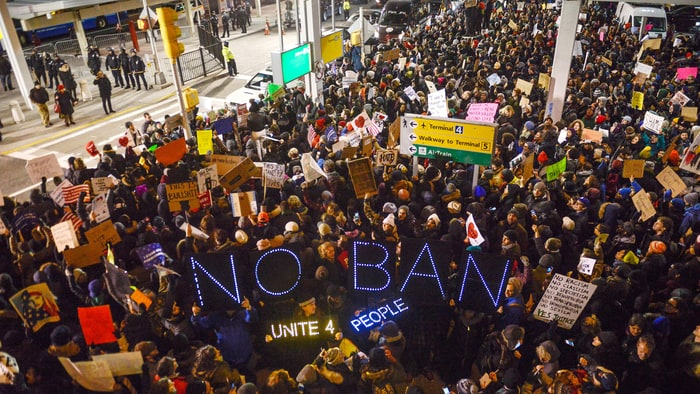 Image result for muslim ban protest