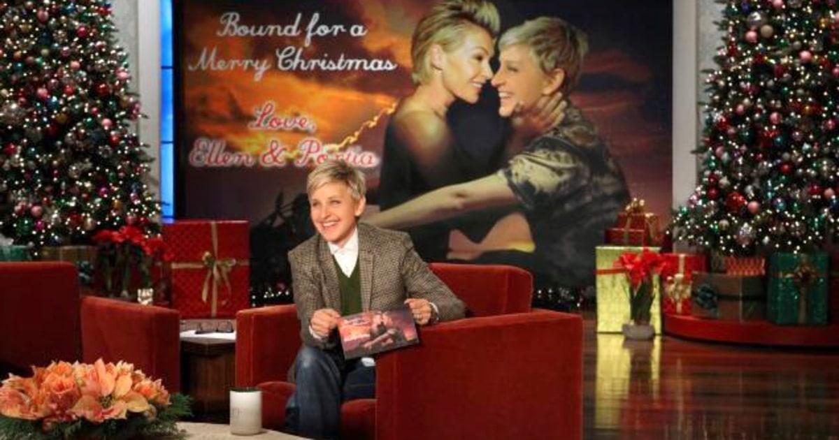 Ellen DeGeneres And Portia De Rossi 2013 Celebrity