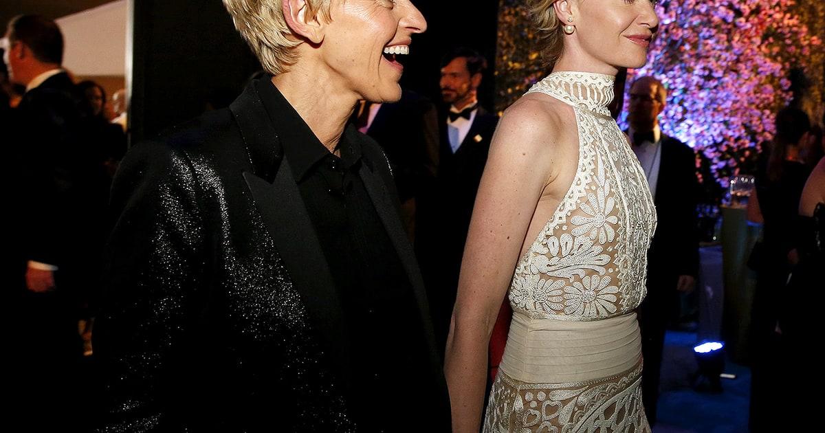 Pin Portia De Rossi And Ellen Degeneres Wedding Cake On