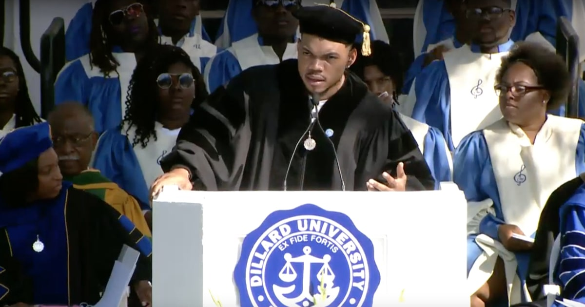 Image result for Chance The Rapper Praises Beyonce In Commencement Speech