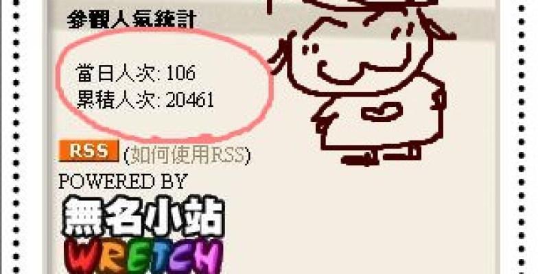耶!誰是第兩萬名。。好感動喔!