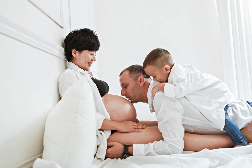  孕照分享 -古龍一家。二寶妹的孕期照