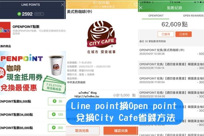 7-11喝免費咖啡∥ 使用Line point兌換OPENPOINT,再用點數換咖啡City Cafe更划算!