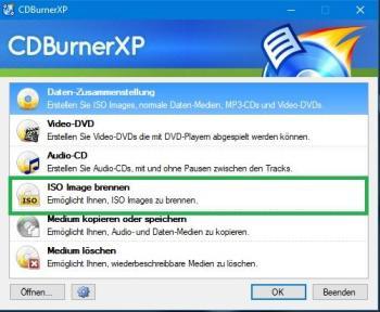 Brennen mit CDBurnerXP