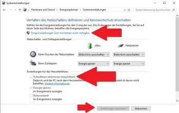 Windows 10: Schnellstart deaktivieren