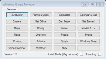App Remover ausführen und vorinstallierte Apps entfernen