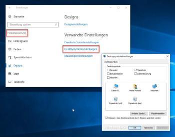 Desktop-Symbole mit Bordmitteln anpassen