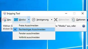 Snipping Tool nutzen für Screenshots