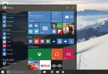 Transparenz im Startmenü unter Windows 10